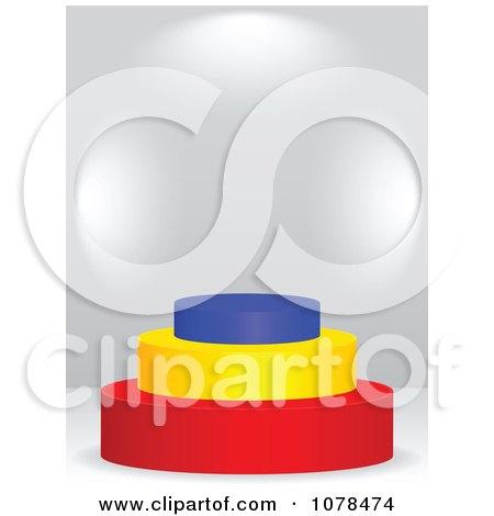 Clipart 3d Romanian Flag Podium - Royalty Free Vector Illustration by Andrei Marincas