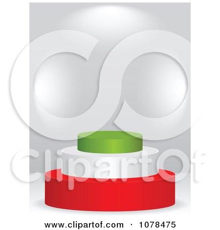 Clipart 3d Italian Flag Podium - Royalty Free Vector Illustration by Andrei Marincas
