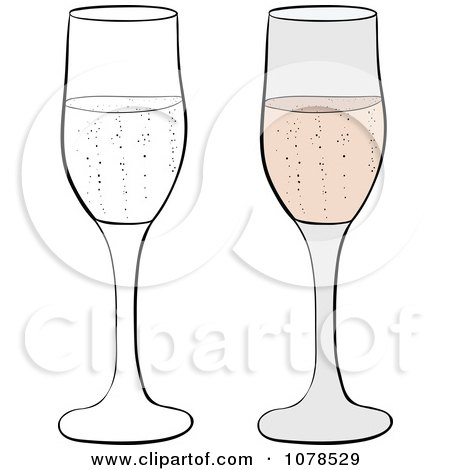 Royalty-Free (RF) Clipart of Champagne Glasses, Illustrations ...