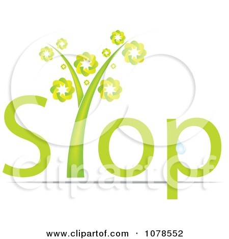 Clipart Green Stop Plant - Royalty Free Vector Illustration by Andrei Marincas