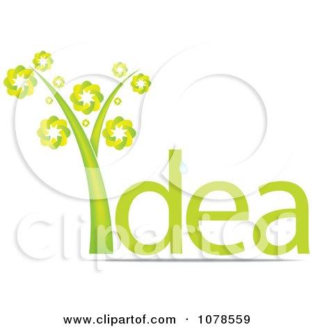 Clipart Green Idea Plant - Royalty Free Vector Illustration by Andrei Marincas