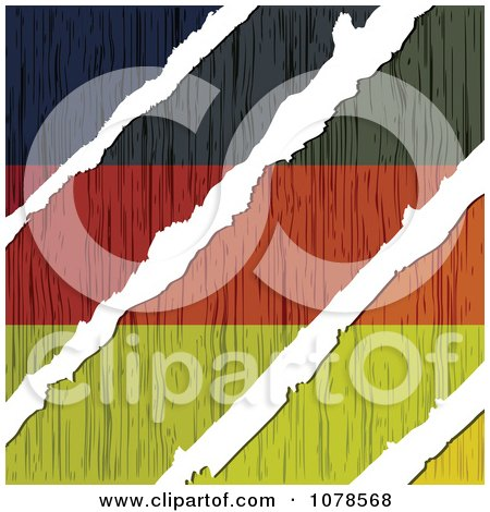 Clipart White Tears Through A Wooden German Flag - Royalty Free Vector Illustration by Andrei Marincas