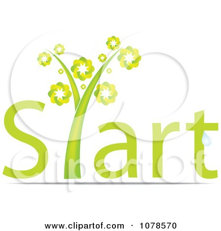 Clipart Green Start Plant - Royalty Free Vector Illustration by Andrei Marincas