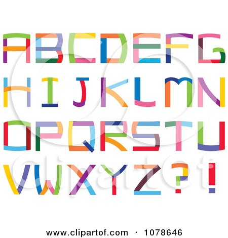 Clipart Colorful Capital Letters - Royalty Free Vector Illustration by yayayoyo