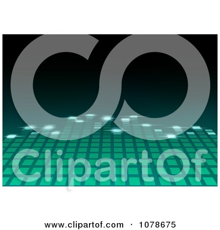 Clipart Green Equalizer Bar Leading Into Blackness - Royalty Free Vector Illustration by dero