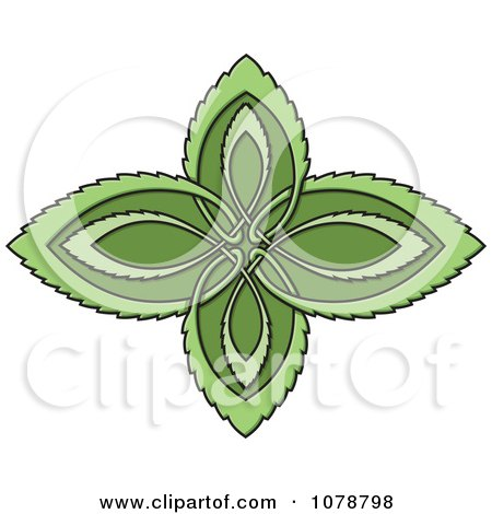 Clipart Celtic Leaf Design - Royalty Free Vector Illustration by Any Vector