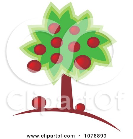 Clipart Abundant Apple Tree - Royalty Free Vector Illustration by Lal Perera