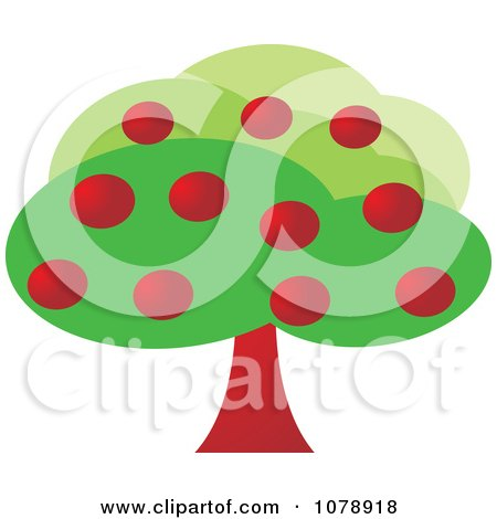 Clipart Lush Apple Tree - Royalty Free Vector Illustration by Lal Perera