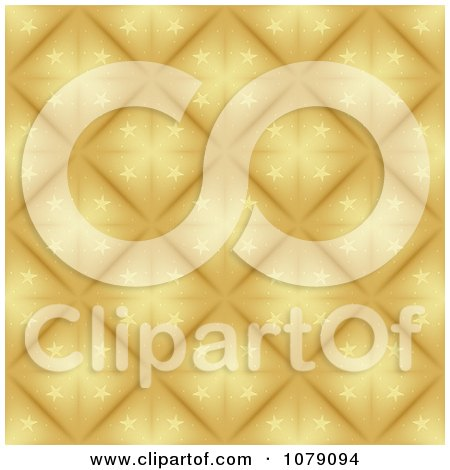 Clipart Golden Starry Diamond Christmas Pattern Background - Royalty Free Vector Illustration by dero