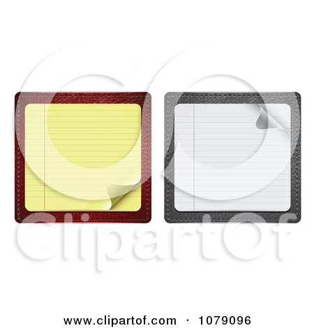Clipart 3d Yellow And White Note Paper With Turning Corners - Royalty Free Vector Illustration by vectorace