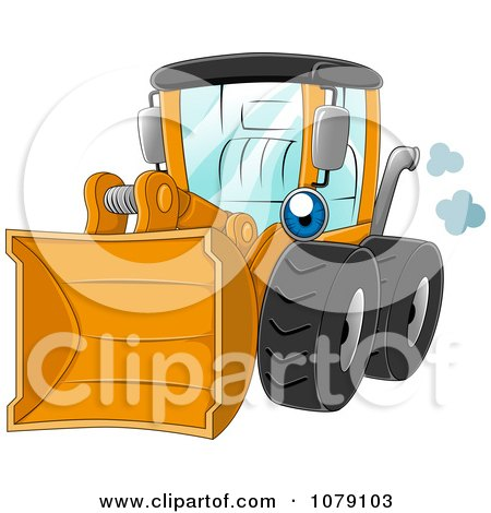 Clipart Yellow Wheel Loader - Royalty Free Vector Illustration by BNP Design Studio