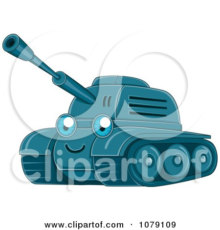 Clipart Happy Military Tank - Royalty Free Vector Illustration by BNP Design Studio