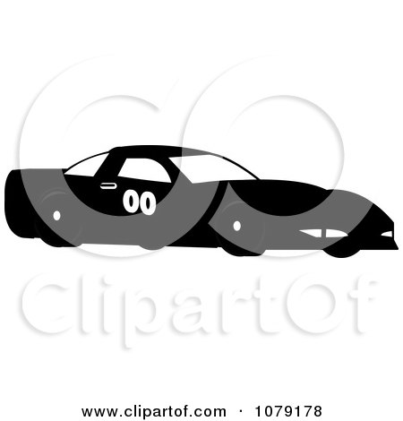 Clipart Black Race Car - Royalty Free Vector Illustration by Pams Clipart