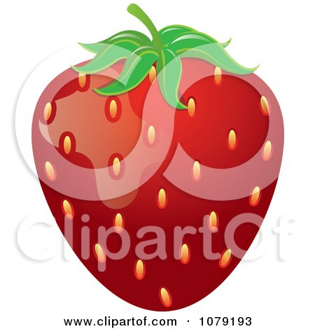 Clipart Ripe Red Strawberry - Royalty Free Vector Illustration by Pams Clipart