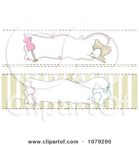 Clipart Set Of Dressmaker Fashion Website Banners - Royalty Free Vector Illustration by BNP Design Studio