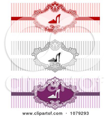 Clipart Set Of High Heel Shoe Website Banners - Royalty Free Vector Illustration by BNP Design Studio