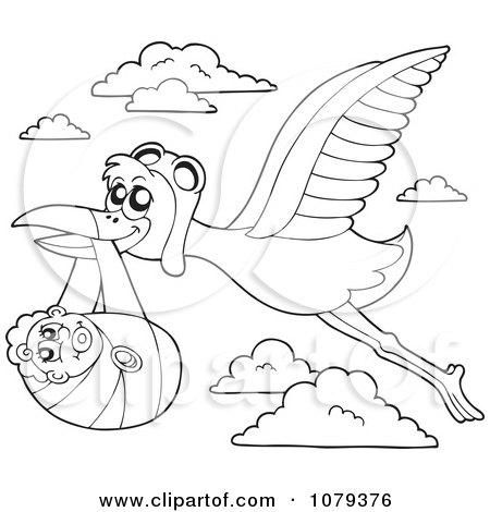 RoyaltyFree RF Stork Delivering