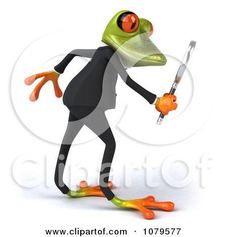 Clipart 3d Business Springer Frog Investigating 2 - Royalty Free CGI Illustration by Julos