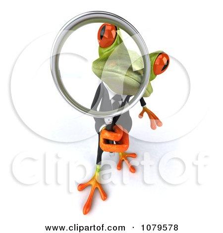 Clipart 3d Business Springer Frog Investigating 3 - Royalty Free CGI Illustration by Julos
