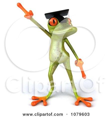 Clipart 3d Graduate Springer Frog Dancing 1 - Royalty Free CGI Illustration by Julos