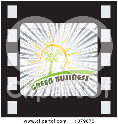 Clipart Green Business Film Strip Icon - Royalty Free Vector Illustration by Andrei Marincas