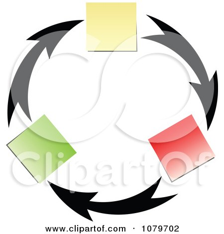 Clipart Arrow And Memo Circle - Royalty Free Vector Illustration by Andrei Marincas