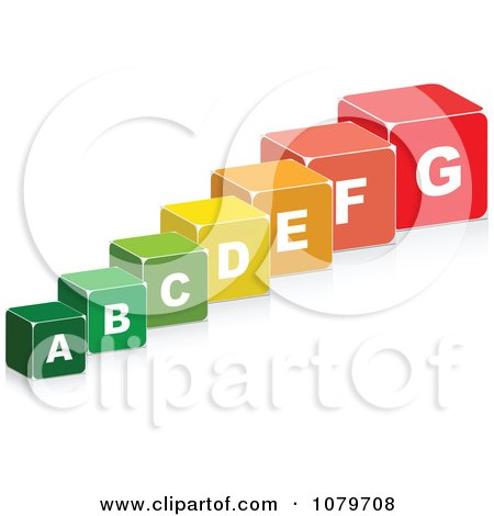 Clipart 3d Energy Chart Boxes - Royalty Free Vector Illustration by Andrei Marincas
