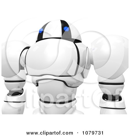 Clipart 3d Security Robot Closeup - Royalty Free CGI Illustration by Leo Blanchette