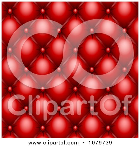 Clipart 3d Red Upholstery Pattern - Royalty Free Vector Illustration by Oligo