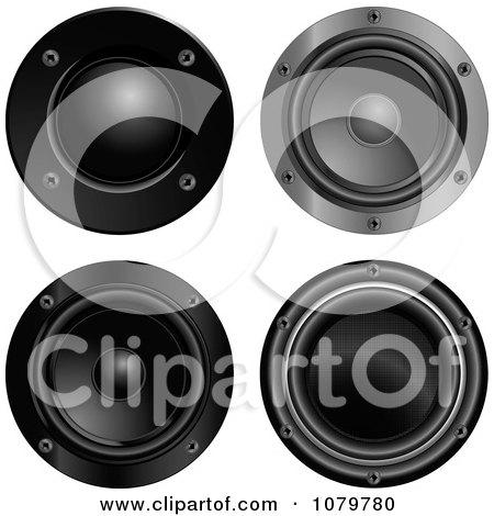 music speakers clipart. 3d black music speakers clipart