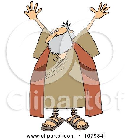 clipart of a cartoon friendly waving chubby moses holding Shoulder Shrug Emoticon Honesty Clip Art