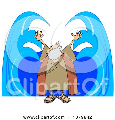 Clipart Moses Parting Water - Royalty Free Vector Illustration by djart
