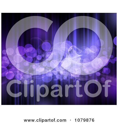 Clipart Purple Sparkly Bokeh Light Background - Royalty Free Illustration by KJ Pargeter
