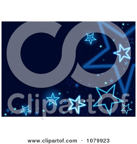 Clipart Blue Star Background With Copyspace - Royalty Free Vector Illustration by dero