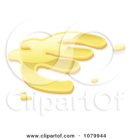 Clipart 3d Liquid Gold Euro Symbol - Royalty Free Vector Illustration by AtStockIllustration