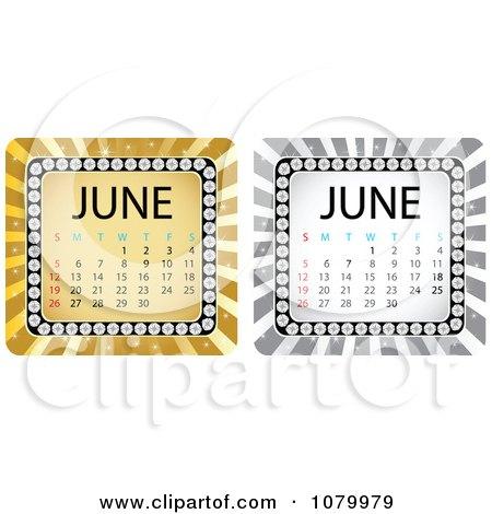 June Calendar Clipart