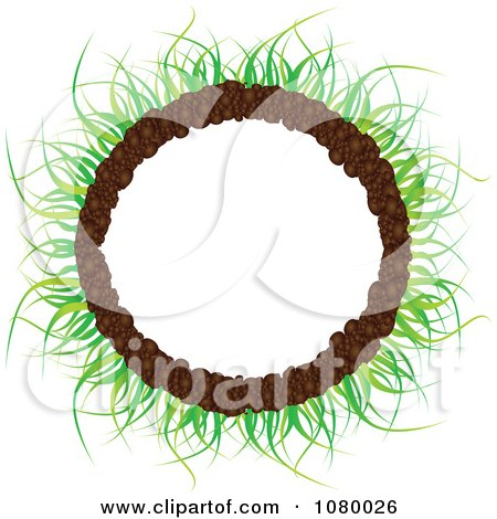 Clipart Round Grass And Soil Frame - Royalty Free Vector Illustration by Andrei Marincas