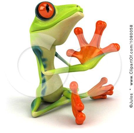 Meditating frog sculpture