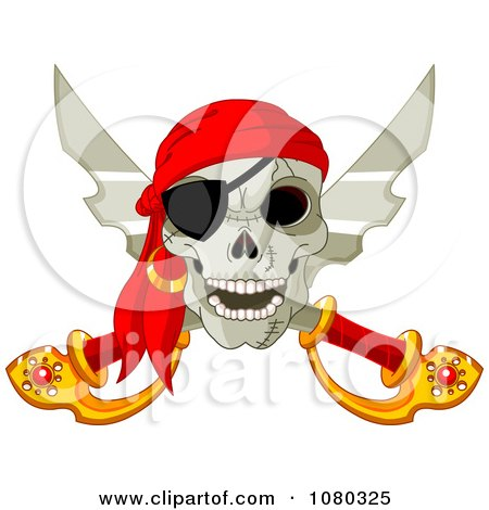Pirate Skull And Crossed Swords With An Eye Patch Posters, Art Prints