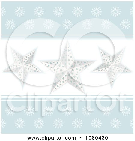 Clipart Pastel Blue Background With White Stars - Royalty Free Vector Illustration by elaineitalia