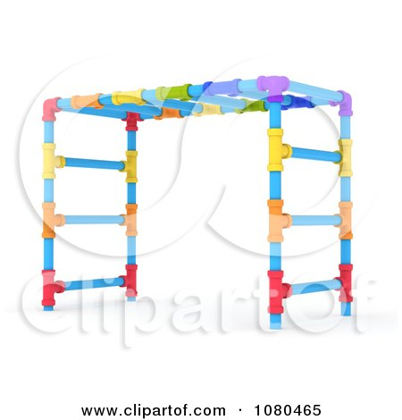 Clipart 3d Colorful Monkey Bars On A Playground - Royalty Free CGI Illustration by BNP Design Studio
