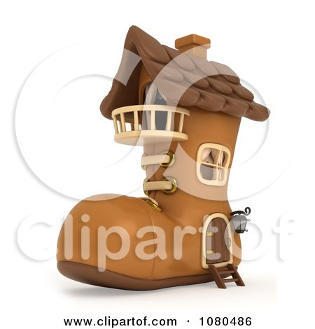 3d Boot Shaped House Posters, Art Prints