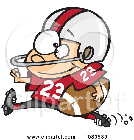 Clipart Football Halfback Running - Royalty Free Vector Illustration by toonaday