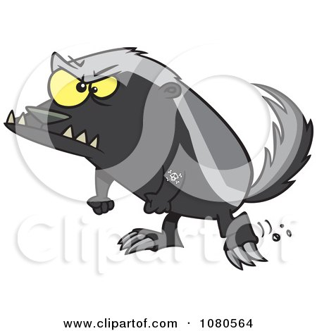 Clipart Angry Honey Badger - Royalty Free Vector Illustration by toonaday