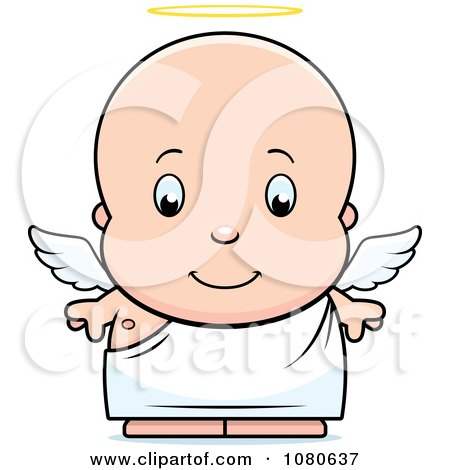 Clipart Cute Baby Boy Angel - Royalty Free Vector Illustration by Cory Thoman