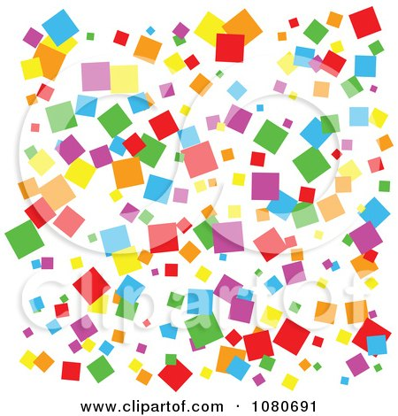 Clipart Colorful Pixel Background On White - Royalty Free Vector Illustration by Prawny