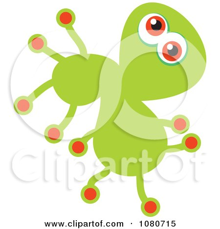 Clipart Green Germ Doodle - Royalty Free Vector Illustration by Prawny