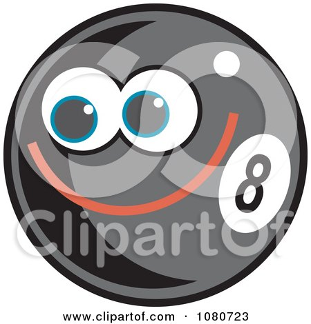 Clipart Happy Eight Ball - Royalty Free Vector Illustration by Prawny