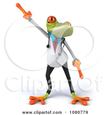 Clipart 3d Doctor Springer Frog Dancing 1 - Royalty Free Illustration by Julos