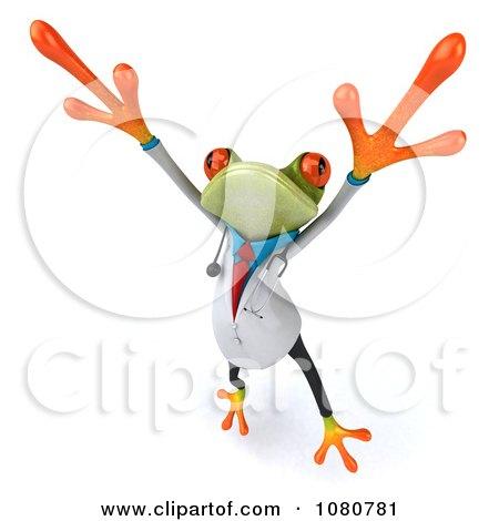 Clipart 3d Doctor Springer Frog Dancing 3 - Royalty Free Illustration by Julos